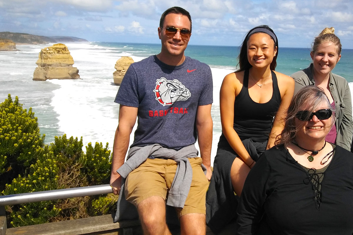Students enjoying the Great Ocean Road