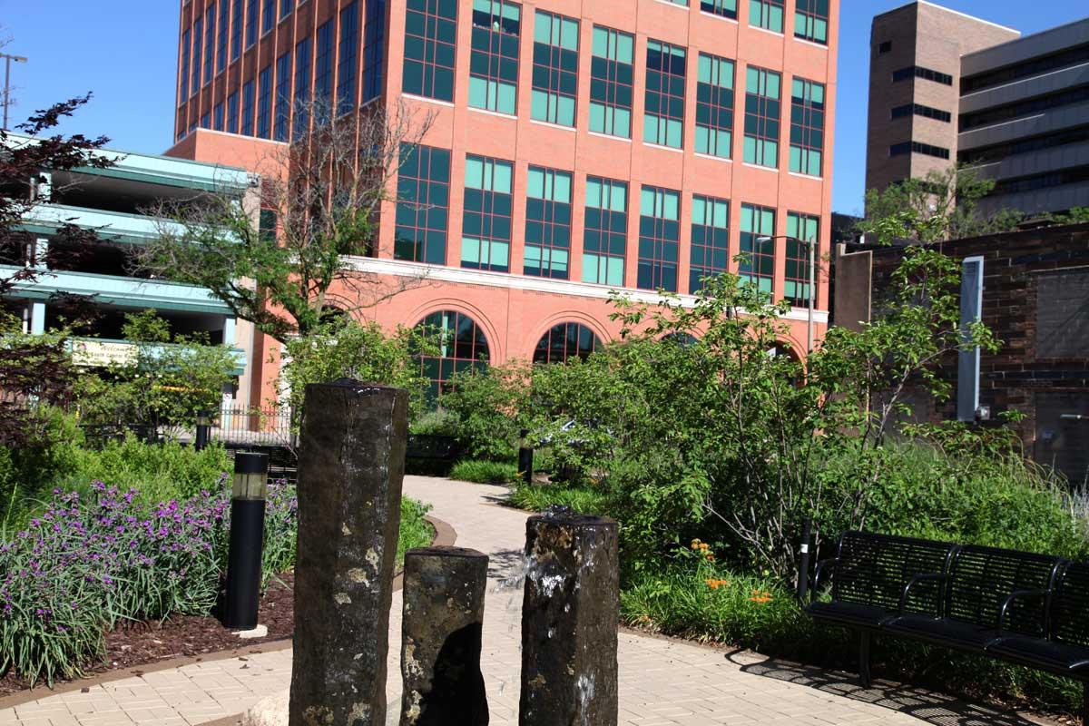 Lansing campus Darryl Parsell Garden