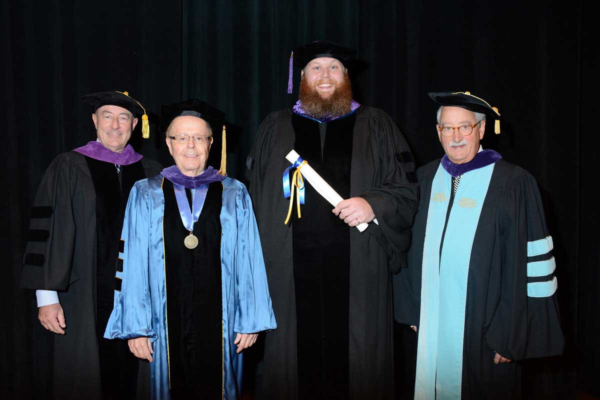 Jeff Martlew, Joseph Kimble, Brian Cox, and Lawrence Nolan at WMU-Cooley Sept graduation