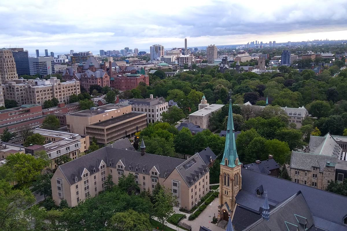 Aerial view of St. Michael's in Toronto