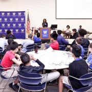 students learn about law school